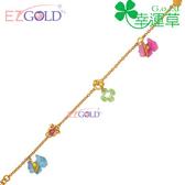 幸運草金飾-純純的愛-黃金手鍊