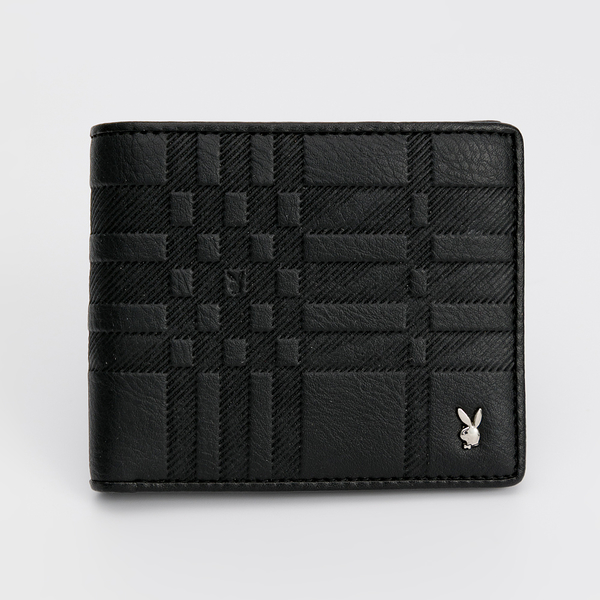 PLAYBOY - 上翻短夾 Noble系列 - 黑色