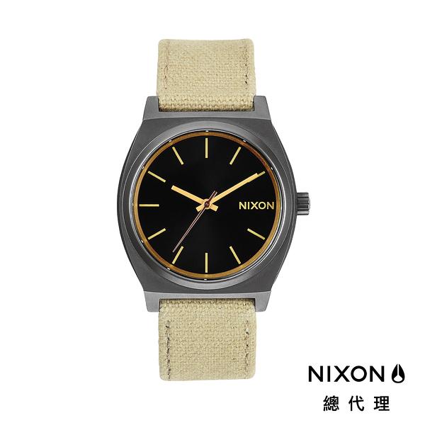 【官方旗艦店】NIXON TIME TELLER 極簡工裝小錶款 帆布錶帶 卡其 潮人裝備 潮人態度 禮物首選
