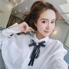 領結 韓國東大門女繫帶領結飄帶裝飾學院風甜美百搭襯衫蝴蝶結小配飾