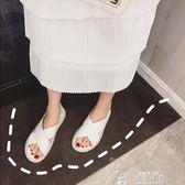 新款時尚百搭ins潮夏季溫柔仙女風交叉網紅孕婦平底涼鞋子女 韓流時裳