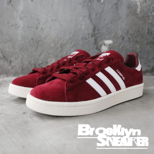 ADIDAS  Originals CAMPUS 酒紅 麂皮 休閒鞋 情侶鞋 男女 (布魯克林)  BZ0087