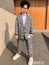 兒童西裝 童裝春裝男童套裝新款兒童韓版洋氣小西裝兩件套男孩英倫帥氣 韓菲兒