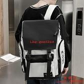 後背包書包高中生大容量結實學生女潮牌男士雙肩包【西語99】