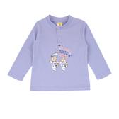 【愛的世界】純棉太空狗圓領壓扣長袖上衣/2~3歲-台灣製- ★秋冬上著
