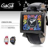 GaGa MILANO 義大利時尚精品腕表 46mm/男女兼用/機械錶/防水/BK/名人著用/6002.1 現+排單/免運!