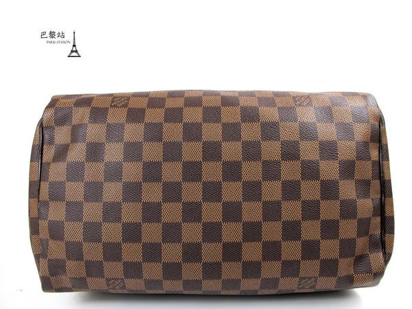【巴黎站二手名牌專賣店】*現貨*LV 路易威登 真品*N41364 經典棋盤格speedy 30手提波士頓包