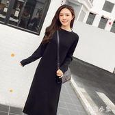中大尺碼 毛衣洋裝2018秋季新款韓版寬鬆直筒長款套頭毛衣裙 ys5927『毛菇小象』