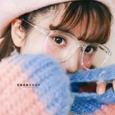 透明金屬大框眼鏡 男女中性款 韓國熱賣款 黑框眼鏡 惡南宅急店【0052M】