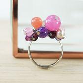 【粉紅堂 飾品】可愛小葡萄戒指 (戒圍可調)