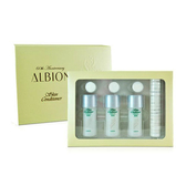 《Albion 艾倫比亞》健康化妝水 精選組 (27ml*3+壓縮面膜) 加贈 黑人 專業護齦抗敏感 牙膏 120g