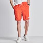 千紙鶴夏季薄款男士寬鬆運動五分褲跑步速干沙灘休閒短褲男褲子潮