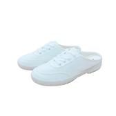 KANGOL 女款白色帆布鞋懶人鞋-NO.6022200300