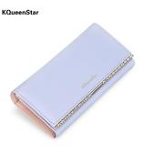 KQueenStar女士錢包 女長款日韓簡約小清新錢包多功能皮夾子錢夾