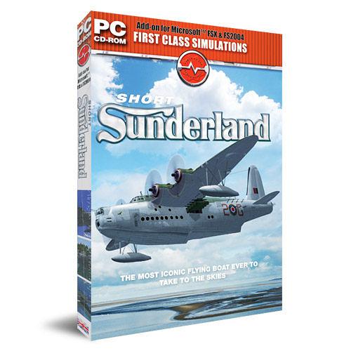 【軟體採Go網】PCGAME-模擬飛行X / 模擬飛行2004-水陸兩用飛行機 Sunderland Flying Boat 盒裝完整版