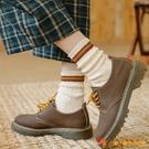 堆堆襪子女中筒襪秋冬復古日系長襪【小獅子】