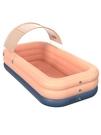 兒童游泳池充氣加厚嬰兒家用游泳桶折疊家庭寶寶小孩超大戶外大型 霓裳細軟