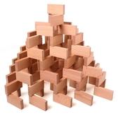 多米諾骨牌兒童環保 高檔櫸木原木色200塊天然木制