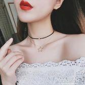 氣質百搭時尚五角星項鍊雙層頸鍊項圈甜美歐美風復古清新項鍊 Ifashion