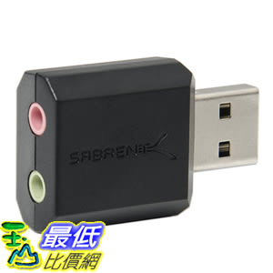 [美國直購] Sabrent AU-MMSA 音源轉接頭 USB External Stereo Sound Adapter for Windows and Mac