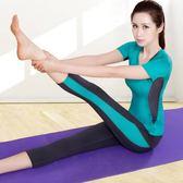 春夏瑜伽服套裝女新款短袖初學者專業運動服寬鬆顯瘦上衣