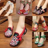 推薦春夏新品青年繡花鞋民族風布鞋內增高女鞋時尚女布鞋單鞋(818來一發)