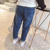 丹寧褲 男女童寬鬆牛仔褲春裝韓版兒童寶寶哈倫微垮長褲休閒褲子 寶貝計畫