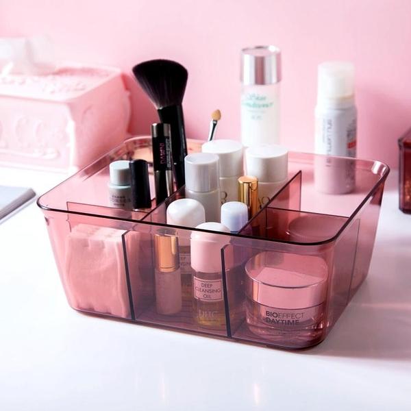 居家家 多格化妝品收納盒梳妝台小盒子 浴室桌面護膚品首飾整理盒 【快速】