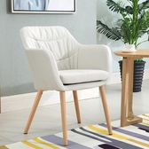 簡約現代實木歐式餐椅家用書房椅單人休閒咖啡椅靠背書桌椅子陽臺wy 【快速出貨八折免運】