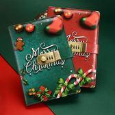 聖誕筆記本子密碼本帶鎖日記本手賬學生記事本文具筆記加厚手帳本【萬聖節85折】
