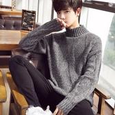 毛衣男士冬季2019新款針織衫韓版潮流個性半高領加絨加厚情侶外套-ifashion