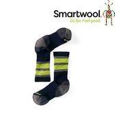 【SmartWool 美國 兒童 健行中級避震條紋中長襪《海軍藍》】SW001105/排汗襪/保暖襪/兒童襪★滿額送