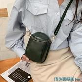 手機包斜背包 真皮手機包2021新款網紅迷你斜挎小包高級感牛皮洋氣單肩包時尚女 快速出貨