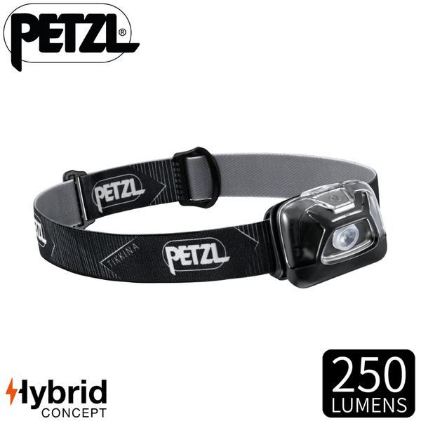 【PETZL 法國 TIKKINA頭燈《黑》】E091DA00/250流明/頭燈/登山露營/手電筒/緊急照明