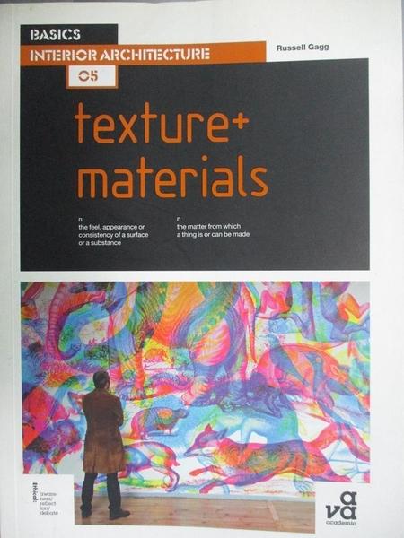 【書寶二手書T6/設計_DM4】Basics Interior Architecture 05: Texture + M