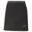 【現貨】PUMA Amplified 女裝 短裙 休閒 鬆緊腰 串標 黑 歐規【運動世界】58591551