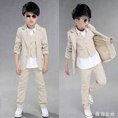 男童禮服 中大尺碼西裝套裝8男孩9小西服10歲男孩12禮服三件套13OB3842『美鞋公社』