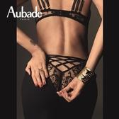 Aubade夜后S-L奢華頂級限量蕾絲三角褲(黑)QE
