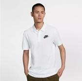 NIKE服飾系列-NSW CE POLO MATCHUP PQ 男款白色Polo 衫-NO.909747100