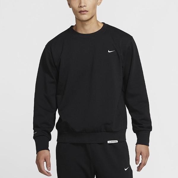 Nike SPORTSWEAR 男裝 長袖 大學T 休閒 棉質 刺繡LOGO 黑【運動世界】CK6359-010