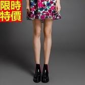 短筒雨靴-歐美時尚撞色簡約女雨鞋2色66ak45[時尚巴黎]