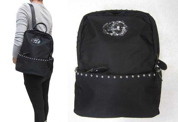 ~雪黛屋~COUNT 後背包中容量主袋+外袋共三層輕量防水水晶布+牛皮革BCD50003701360