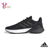 adidas跑步鞋 女鞋 RESPONSE SR 透氣運動鞋 慢跑鞋 耐磨底 跑鞋 S9347#黑色◆OSOME奧森鞋業