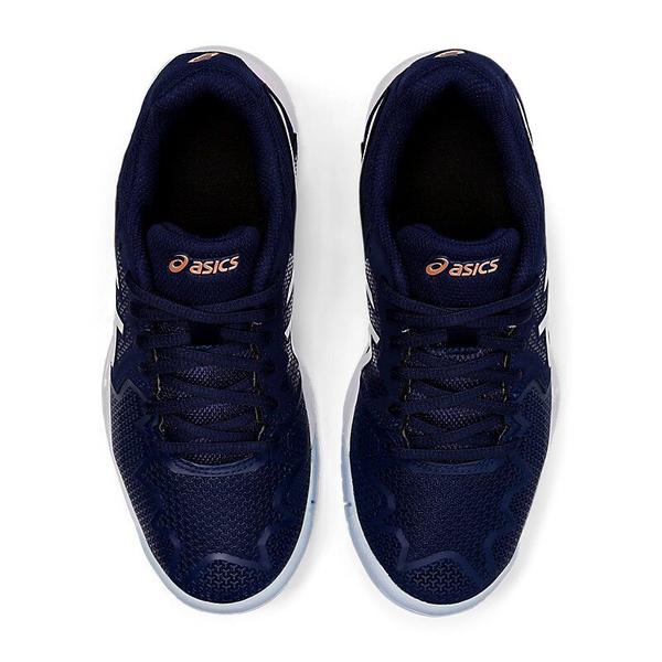 Asics GEL-RESOLUTION 8 GS [1044A018-401] 大童鞋 運動 休閒 網球 避震 藍