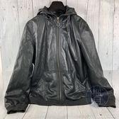 BRAND楓月 MARC BY MARC JACOBS 小MJ 黑皮衣 #M 拉鍊 連帽外套 夾克 中性 男女款 個性