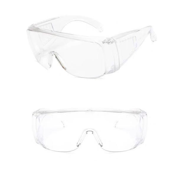 SUNS防唾液飛沫防UV強化鏡面透明護目鏡(扇形)