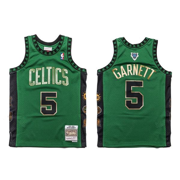 MITCHELL & NESS M&N NBA生涯紀念版球衣 GARNETT 賽爾提克 綠金 (布魯克林) MNSWJG2198H
