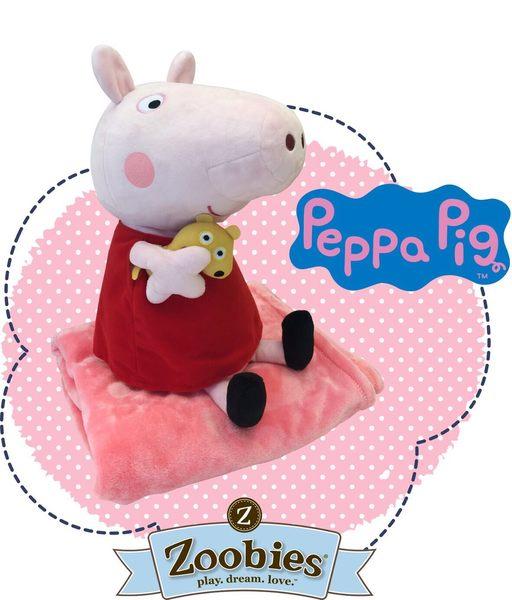 【美國 Zoobies x Peppa Pig】粉紅豬小妹多功能玩偶毯【正版授權】- 佩佩豬Peppa Pig