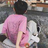 男童t恤半袖夏裝純棉寬鬆兒童短袖休閒【淘夢屋】