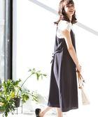 圓點印刷吊帶連身洋裝【coen】